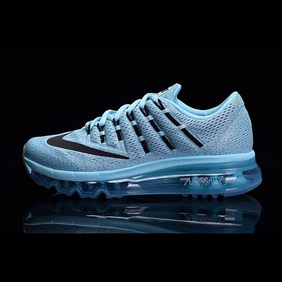 Nike Air Max 2016 Flyknit Sky Blue Running Shoes NWT